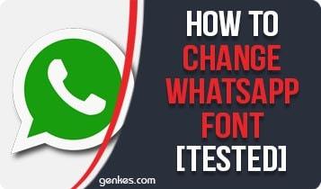 Change Whatsapp Font
