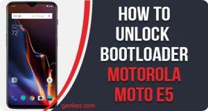 Unlock Bootloader on Motorola Moto E5