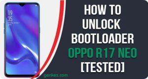 Unlock Bootloader on Oppo R17 Neo