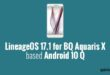 Lineage OS 17.1 for BQ Aquaris X
