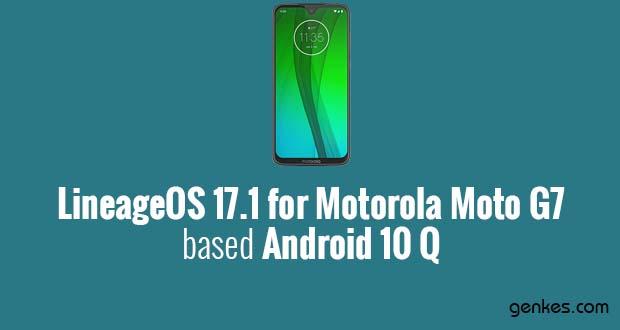 Lineage OS 17.1 for Motorola Moto G7
