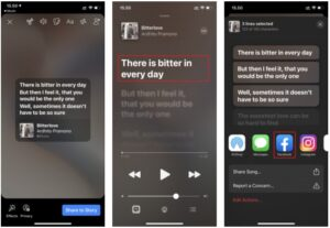 How To Share Lyrics from Apple Music to Facebook Stories