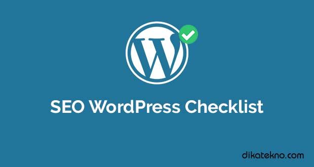 SEO WordPress Checklist